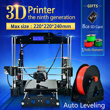 Upgrade Assemble 3D Printer Auto Reprap High Precision Prusa i3 Melzi2.0 SD Card