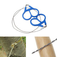 Stainless Steel Ring Wire Camping Saw Rope Outdoor Survival Emergency Tools FD