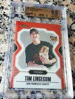TIM LINCECUM 2007 Topps Finest Rookie Card RC BGS 9.5 10 Giants 3x WS Champs CY