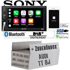 Radio Sony Bluetooth DAB+ Apple Carplay TFT USB Montage pour Audi Tt