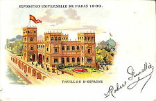 CPA PARIS EXPOSITION UNIVERSELLE WORLD FAIR PAVILLON ESPAGNE ESPANA SPAIN 1900