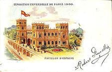 CPA PARIS EXPOSITION UNIVERSELLE WORLD FAIR PAVILLON ESPAGNE ESPANA SPAIN 1900