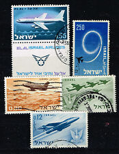 Israel Aviation Aircraft History Airforce stamps 1960s
