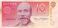 Estonia 10 Krooni 1992 Series Az Circulated Banknote Sd8/5
