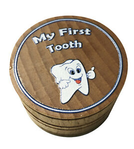 """""""My First Tooth"""" Memento Dream Keepsake Baby Tooth Box Printed in Full Color"""