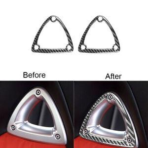 2Pcs For Mazda RX-8 2004-2008 Carbon Fiber Seat Headrest Decorative Cover Trim