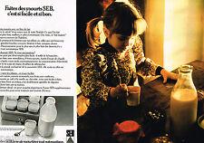 PUBLICITE ADVERTISING 055  1976  SEB  la yaourtière  ( 2 pages)