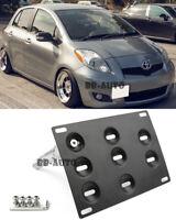 For 07-11 Toyota Yaris Tow Hook Hole License Plate Frame Bracket Mount Holder