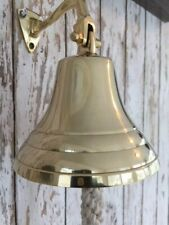 Deluxe Brass Ship Bell w/ Rope Lanyard ~ ~Nautical Maritime Wall Boat Decor