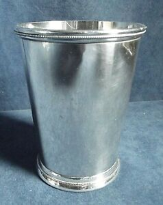 GOOD  ~ SILVER Plated ~ Beaker CUP by International Silver c 1960
