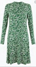 M&S Jersey Ditsy Floral Print Smock Dress Size 18 Green Mix NEW
