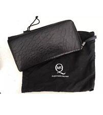 Alexander McQueen Black Leather Bubble Zip Wallet - $595 Retail!