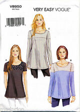 VOGUE SEWING PATTERN 8950 MISSES 6-14 EASY PULLOVER SEMI-FITTED TUNICS W/ YOKES