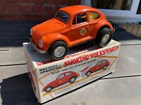 Aoshin Smoking Volkswagen Beetle In Its Original Box - Near Mint Vintage Rare