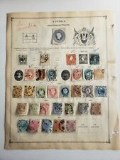 1850 -1890 Austria stamp collection on page - used - please see photos