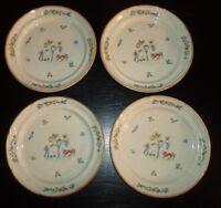 "(4) International HEARTLAND Stoneware 7 1/2"" Salad Plates"