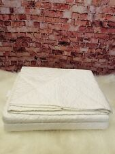 MARTHA STEWART COLLECTION QUEEN  BEDSPREAD EMBROIDERED FLORAL IVORY