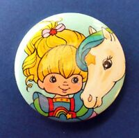 Hallmark BUTTON PIN Rainbow Brite Vintage HORSE Starlite PINBACK