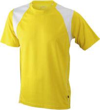 Hauts et maillots de fitness jaune taille S pour homme