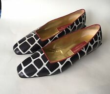 Vtg Andrea Pfister Couture Low Block Heels Giraffe Print 9 Italy Need Supply MNZ