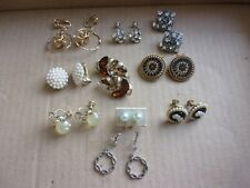 Backs Earrings Coro Marvella Others 10 Pair Lot Clip On Screw