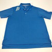 Adidas Men's Climacool Blu Short Sleeve Golf Polo Size Large
