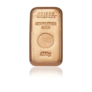 500g .999 Copper Cast Bullion Bar