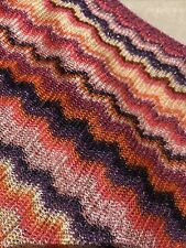 Missoni Striped Knitted Pink Orange Purple Metallic Scarf - Worn Once