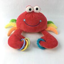 Baby Gund Crab Plush Stuffed Anima Claw Ring Teething Sensory Toy PL3