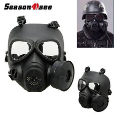 Airsoft Anti-Fog Gas Turbo Fan System Face Mask Wargame Protector Cosplay Black