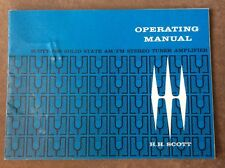 HH Scott 388 Stereo Tuner Amplifier Operating Manual - Original