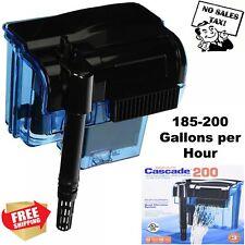 Pro 55 Gallon Fish Tank Filter Power Aquarium Pump Sterilizer Canister 200 Gph