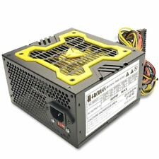 NEW--Hercules Yellow 12cm-Fan 600w-Max ATX Power Supply 20+4Pin, SATA & PCIe