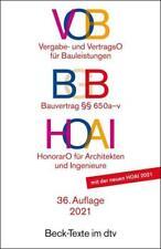 VOB / BGB Bauvertrag / HOAI (2021, Taschenbuch)