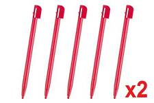Hellfire Trading 10 Red Touch Stylus Pen For Nintendo NDSL DSL DS Lite Gaming