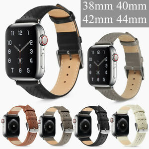 Leather Holes Watch Band Wristwatch Straps For Apple iWatch Series 6/5/4/3/2/1