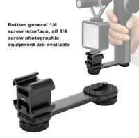 Ulanzi PT-3 Triple Hot Shoe Mounts Bracket Stand Microphone Plate Adapter Black