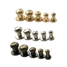 20pcs Rivets Ball Head Screwback Studs Buttonx Shoes Leather Craft Copper Nail
