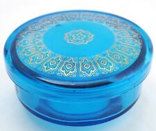 Bohemian Powder Jar - Blue with Gold Decorations