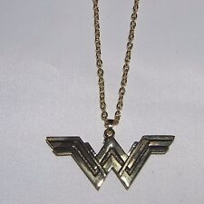 "DC Comics Wonder Woman New Movie Deluxe 3"" Goldtone PENDANT/NECKLACE"