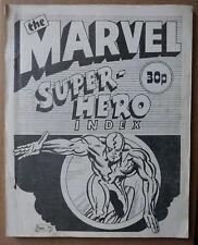 the MARVEL SUPER-HERO INDEX (Alan Austin) 1974 UK RARE Fantasy Unlimited