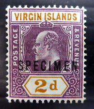 BRITISH VIRGIN ISLANDS 1904 Ed.VII - 2d SPECIMEN No Gum NF351