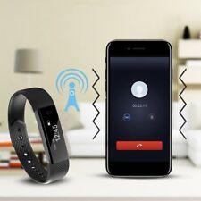 Wasserdicht Armband Pulsuhr Schrittzähler Bluetooth Fitness Activity Tracker DW