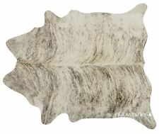 Light Brindle Cowhide Rug Cow Hide Area Rugs Leather Size LARGE