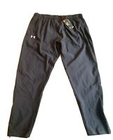 NWT MENS UNDER ARMOUR FITTED TRAINING SWEATPANT HEATGEAR 1279796 001 2XL $70
