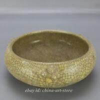 China Ru Kiln Porcelain Carving Chinese Character Tripodia Writing-brush Washer