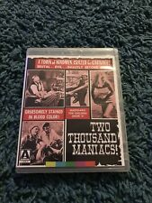 Two Thousand Maniacs Blu Ray Arrow Video H G Lewis Horror Gore Uk Release