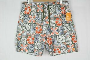 "Quiksilver Waterman Men's 19"" Volley Swim Shorts Floral AQMJV03034"