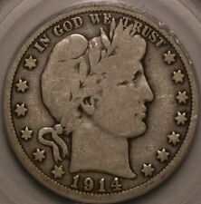 1914 Barber Half Dollar PCGS VG-10. CAC endorsed and very sweet!