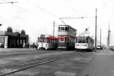PHOTO  1959 BLACKPOOL TRAMS - CABIN STATION ANOTHER VIEW OF THE REVERSING POINT